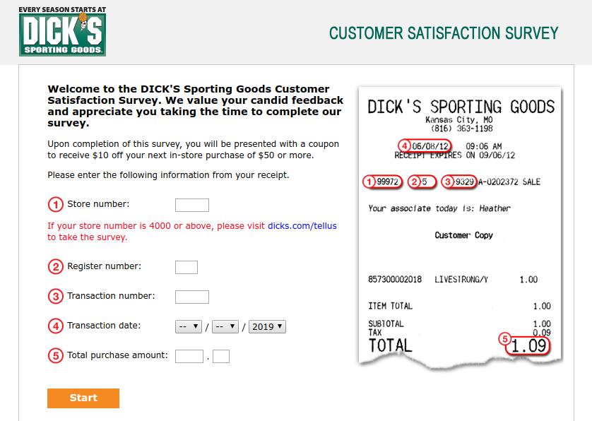 dicks sport good survey